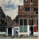 Vermeer City Tiles Living Wall Mural Room Remodeling Idea Home