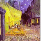 Van Gogh City Shower Bathroom Mural Tiles Wall Design Interior