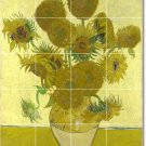 Van Gogh Flowers Wall Tiles Living Mural Room Home Remodel Art