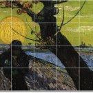 Van Gogh Landscapes Tile Backsplash Mural Kitchen Ideas Remodel