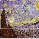 Van Gogh City Shower Murals Tile Bathroom Home Idea Decorating