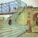 Van Gogh City Tile Bathroom Shower Murals Decorating Home Idea