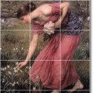 Waterhouse Women Tile Wall Mural Dining Room Decor Decor Floor