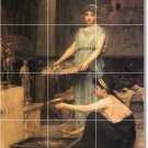 Waterhouse Mother Child Tile Mural Backsplash Kitchen Decor Home
