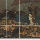 Waterhouse Mythology Tile Room Mural Construction Ideas Interior