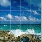 Beach Image Backsplash Wall Mural Kitchen Tile Decor Decor House