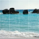 Beach Image Backsplash Mural Kitchen Tile Wall Decor Decor House