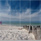 Beach Image Tile Wall Kitchen Mural Backsplash Home Decor Design