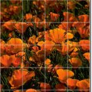 Flowers Image Bathroom Tiles Wall Home Remodeling Contemporary