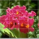 Flowers Picture Wall Tile Bedroom Renovations Residential Ideas
