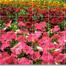 Flowers Photo Wall Tiles Bathroom Remodeling Home Contemporary