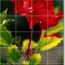 Flowers Image Tile Mural Shower Wall Home Traditional Renovate