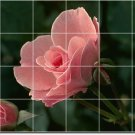 Flowers Image Mural Tile Wall Shower Interior Renovations Idea