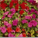 Flowers Photo Bedroom Wall Tiles Mural Mural Floor Modern Decor