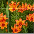 Flowers Photo Murals Tile Room Living Home Construction Design
