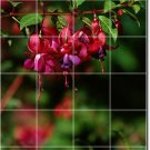 Flowers Image Tile Mural Kitchen Decorate Interior Renovations