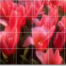 Flowers Picture Mural Tile Room Remodeling Design Idea Interior