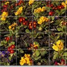 Flowers Image Murals Bathroom Shower Wall Decorating Home Idea