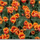 Flowers Image Murals Shower Bathroom Wall Idea Home Decorating