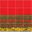 Flowers Image Shower Wall Tile Murals Design Renovations House