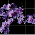 Flowers Image Dining Room Tile Wall Mural Decor Interior Design