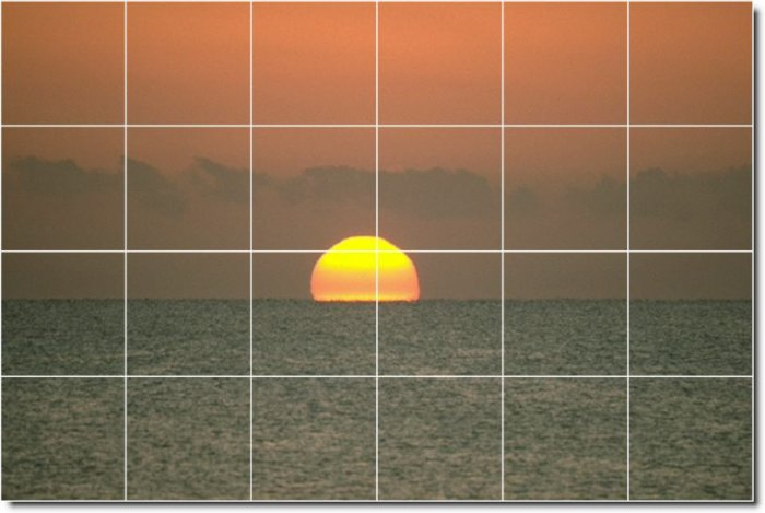 Sunsets Picture Dining Mural Room Floor Design Remodeling House