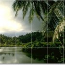 Tropical Photo Wall Tile Backsplash Idea Construction Residential