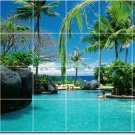 Tropical Picture Mural Tile Kitchen Residential Renovations Idea