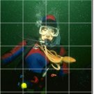 Underwater Picture Tile Wall Room House Design Idea Renovations