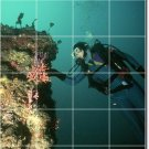Underwater Photo Living Wall Tiles Mural Room Home Remodel Decor