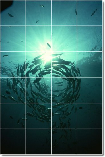 Underwater Image Bedroom Tiles Wall Mural Mural Home Decor Decor