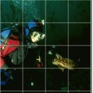 Underwater Image Mural Floor Tiles Room Design House Remodeling