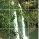 Waterfalls Photo Mural Tile Wall Room Dining Remodel Modern Home