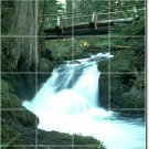 Waterfalls Photo Wall Bathroom Tiles Mural Shower Art Commercial