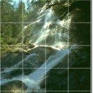 Waterfalls Picture Tiles Mural Wall Bedroom Mural Decor Design