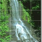 Waterfalls Image Tile Wall Shower Murals Renovation Modern Home