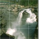 Waterfalls Photo Mural Backsplash Tile Contemporary Construction