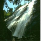 Waterfalls Image Mural Tile Backsplash Construction Contemporary