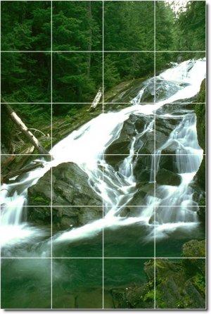 Waterfalls Picture Mural Tiles Floor Kitchen Decor House Decor