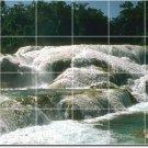 Waterfalls Picture Tiles Kitchen Floor Mural Decor Decor House