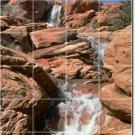 Waterfalls Image Wall Backsplash Tiles Interior Ideas Decorating