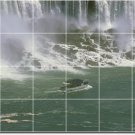 Waterfalls Photo Tile Shower Wall Mural Traditional Construction