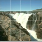 Waterfalls Image Tiles Room Mural Wall Traditional Decorate Home
