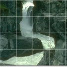 Waterfalls Picture Mural Kitchen Tiles Modern Remodeling House