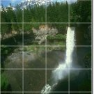 Waterfalls Image Tiles Wall Room Mural Home Traditional Decorate