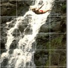Waterfalls Picture Bathroom Shower Wall Mural Home Decor Decor