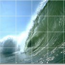 Waves Picture Bathroom Tile Wall Shower Modern Renovate Interior