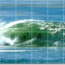 Waves Picture Shower Wall Bathroom Tile Renovate Modern Interior