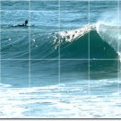 Waves Image Tiles Wall Mural Room Dining House Construction Idea