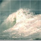 Waves Image Tiles Mural Dining Wall Room Construction House Idea